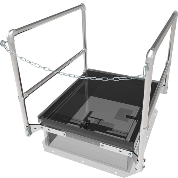 Babcock Davis 30 x 96 Inch Roof Hatch Safety Railing