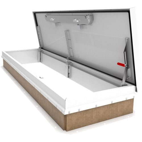 Babcock Davis Galv. White Roof Hatch 30 inch x 96 inch