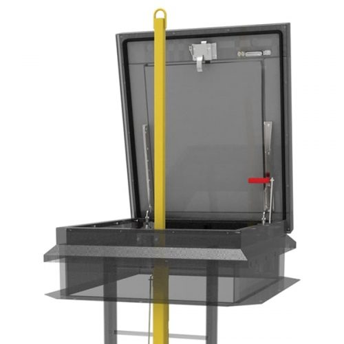 Babcock Davis Ladder Safety Post galv yellow powder coat