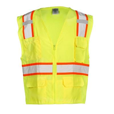 ML Kishigo Solid Front Lime Safety Vest