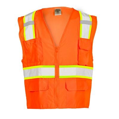 ML Kishigo Solid Front Orange Safety Vest