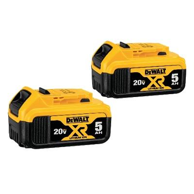 DeWalt 20V Max XR 5Ah Battery 2-Pack